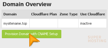 Provision Domain with CNAME Setup