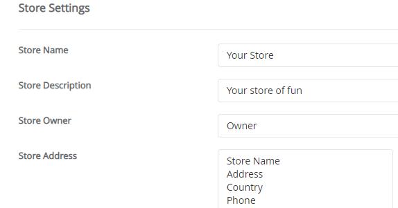 Dodatne informacije za prodavnicu