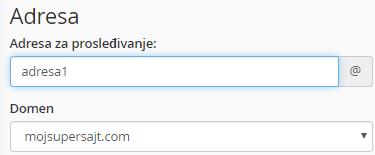 Kreiranje novog imejl prosleđivača