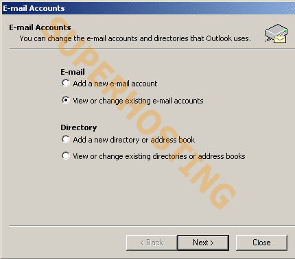 outlook2002 smtp auth step2