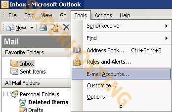pop3 outlook2003 step1